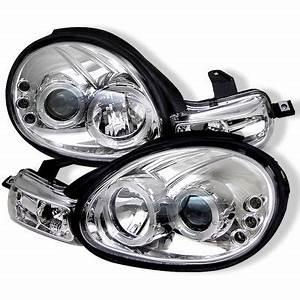 Dodge Neon 2000 2002 Clear Dual Halo Projector Headlights