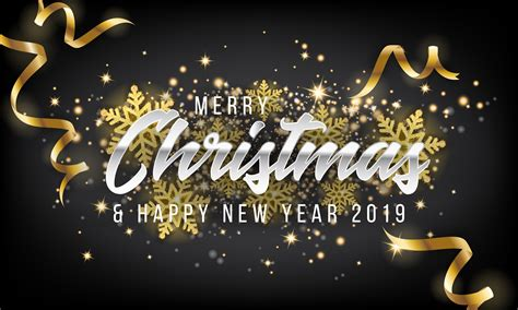 Merry Christmas And Happy New Year 2019 Greeting Card