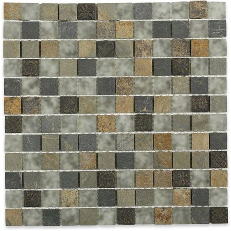 tapestry tiles splashback tile tapestry 12 in x 12 in x 8 mm marble and glass mosaic floor and wall tile
