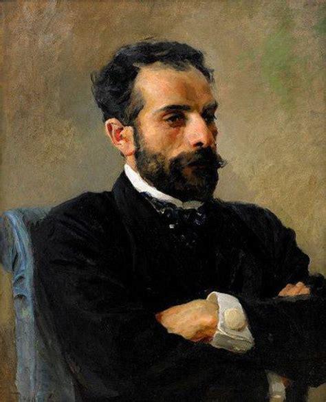 1891 Vasily Polenov: Retrato de Isaac Ilich Levitan ...