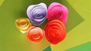 Comment Faire Des Choses En Papier : comment faire une rose en papier ~ Zukunftsfamilie.com Idées de Décoration