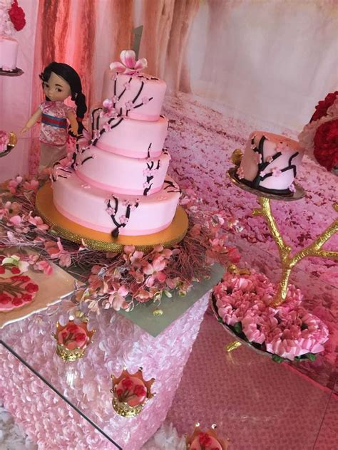 mulancherry blossom chinese birthday party ideas photo