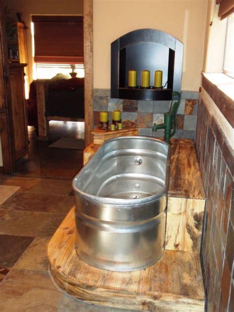 trough bathtub modern bathroom dallas  wright built