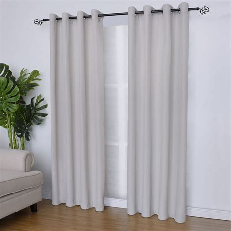 Shop for Polyester Slub Jacqaurd Gromets Window Curtain