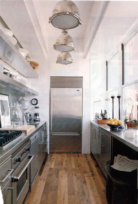 industrial chic galley kitchen genre industrial