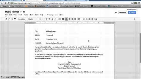 memo template google memorandum format documents
