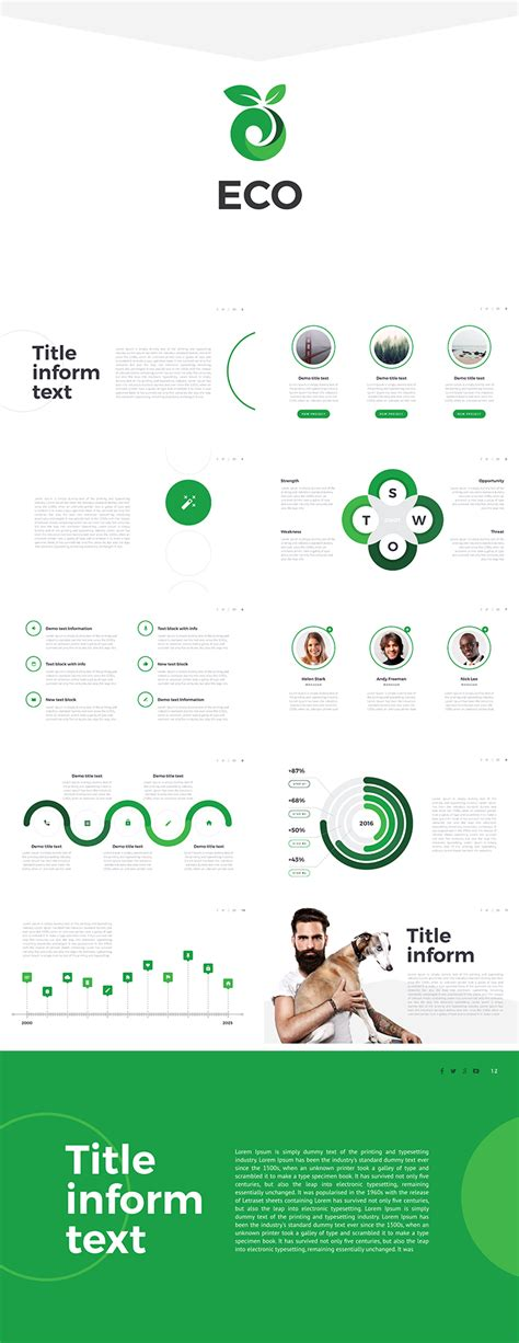 eco presentation templates eco free powerpoint template download free