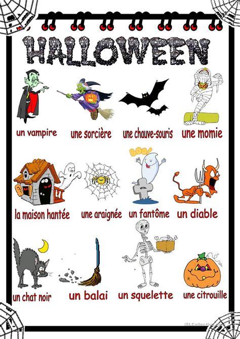 Halloween Vocabulaire Fiche D'exercices  Fiches Pédagogiques Gratuites Fle