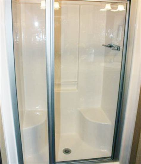 fiberglass shower fiberglass shower with seat home design ideas and pictures