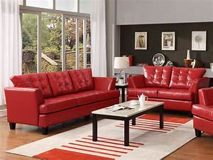 Decorating ideas wonderful ideas using white furry rug for Interior design red leather sofa