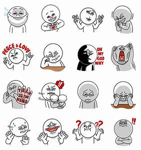 Moon: Funny Faces Part1 Line Sticker - Rumors City