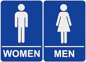 bill de blasio signs order allowing transgender access to With male female bathroom sign images