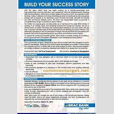 Brac Bank Ltd Job Circular 2019 Latest  Common Target