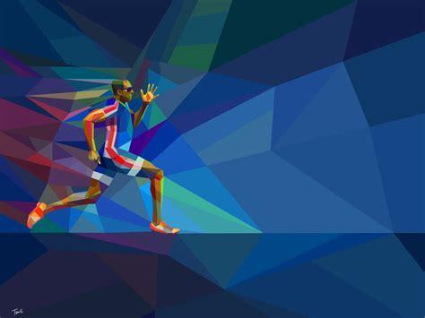 runner rio  juegos olimpicos hd vector wallpapers