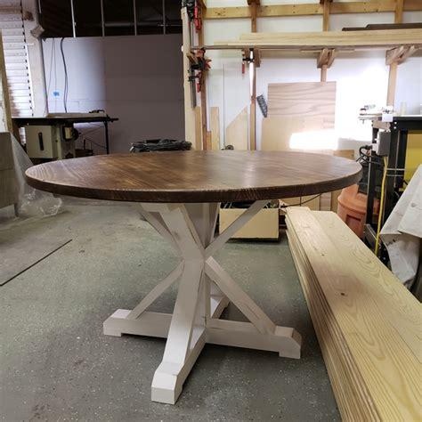 circle farmhouse table ryobi nation projects 2210