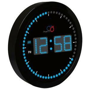 digital wall clock led light large 10 inch blue