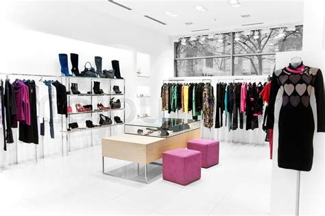 retail showroom design interior of the shop clothing sales point stock