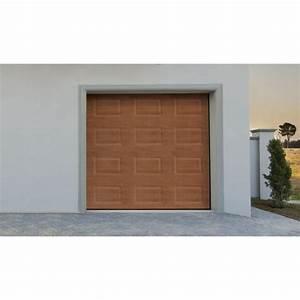 Tarif Porte De Garage Enroulable : porte de garage sectionnelle motoris ch ne frame avantage l 2 40 x h 2 m achat vente porte ~ Melissatoandfro.com Idées de Décoration