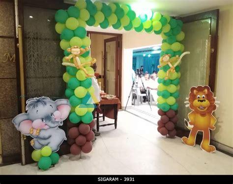 forest themed birthday decoration  jayaram hotel
