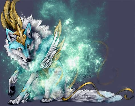 Beautiful Anime Wolf Wallpaper by Galaxy Wolf Wallpapers Wallpaper Cave
