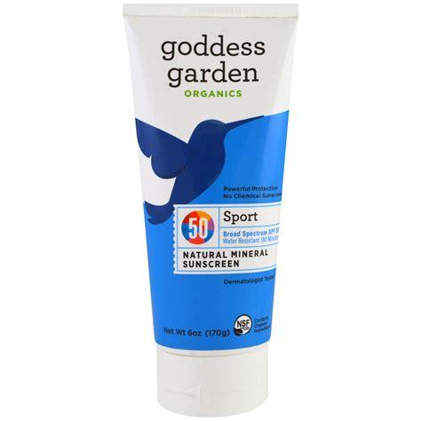goddess garden sunscreen goddess garden organic sport mineral sunscreen