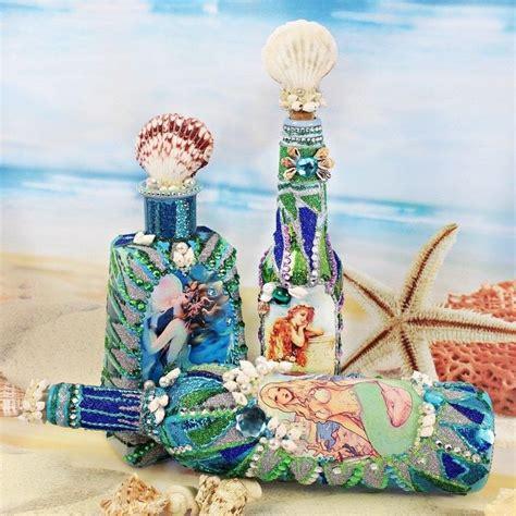 mermaid bottles     piece  seasonal decor