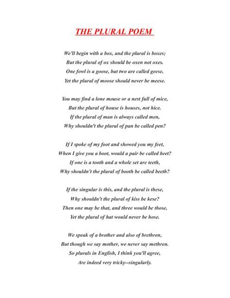 The Plural Poem