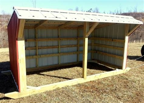 cattle run in shed 6 x12 steel portable livestock shed barn ideas farm