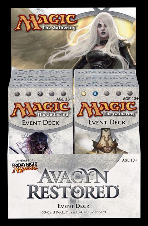 mtg new phyrexia event deck list avacyn restored cauldron of darigazz