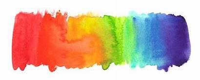Rainbow Paint Watercolor Painted Background Pride Gradient