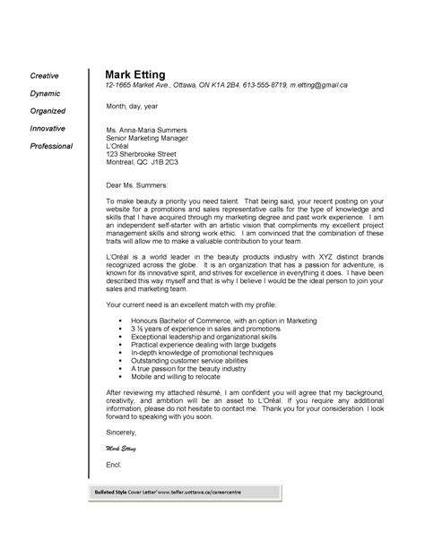 It Cover Letter Exles by Cover Letter Telfer School Of Management