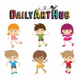 Joyful Kids Clip Art Set – Daily Art Hub – Free Clip Art ...
