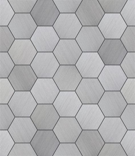 black contemporary floor l hexagonal aluminum tiled seamless texture stock photo