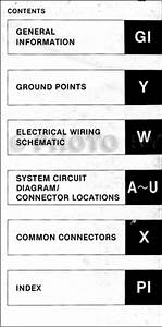 1995 Mazda Mx5 Miata Electrical Wiring Diagram Original