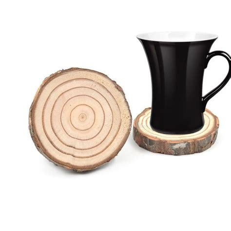 4,598 wholesale coffee mugs from 254 coffee mugs wholesalers. New Wood Round Cup Coasters Slices Rustic Tree Branch Slices Pastoral Style Coffee Mug Water Cup ...