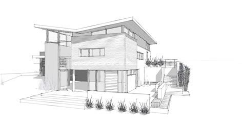 Home Design Drawing by House Modern Architectural Design Pencil And In