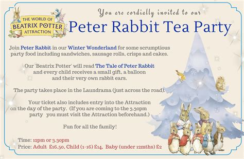 peter rabbit tea party winter wonderland pm laundry