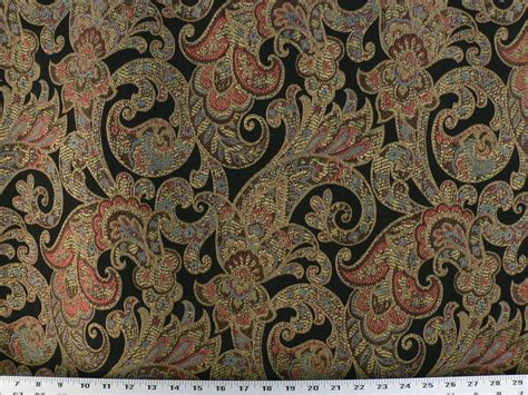 Paisley Drapery Fabric - drapery upholstery fabric woven jacquard paisley floral