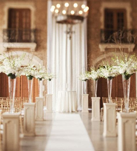 Indoor Ceremony Decorations Weddings Romantique