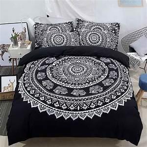 3pcs, Lot, Bohemian, Queen, Comforter, Sets, Mandala, King, Size