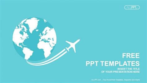 jet airplane travel  earth powerpoint templates