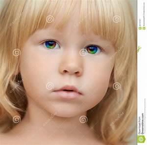 Indigo Child With A Magic Rainbow Eyes Stock Image - Image ...