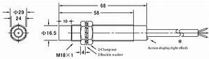 Proximity Sensor  Inductive  M18  3 Wire  120v