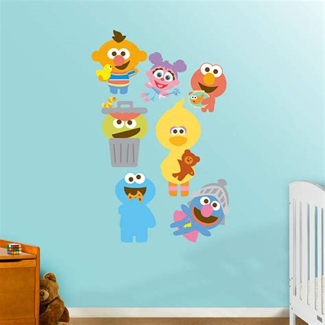 sesame baby collection wall decal shop fathead 174 for sesame decor