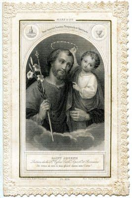 antique clip art wonderful french holy card