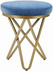 Kealive, Vanity, Stool, Vanity, Chair, With, Metal, Legs, Small, Padded, Makeup, Stool, For, Bathroom