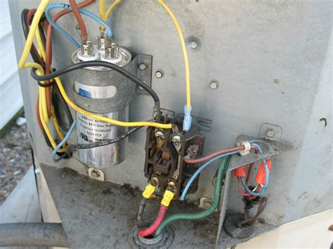 Central Air Conditioner Capacitor Wiring by Components Capacitors Ravti