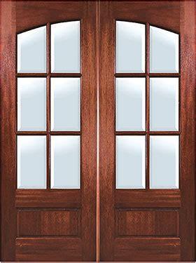mahogany arch  lite double entry door