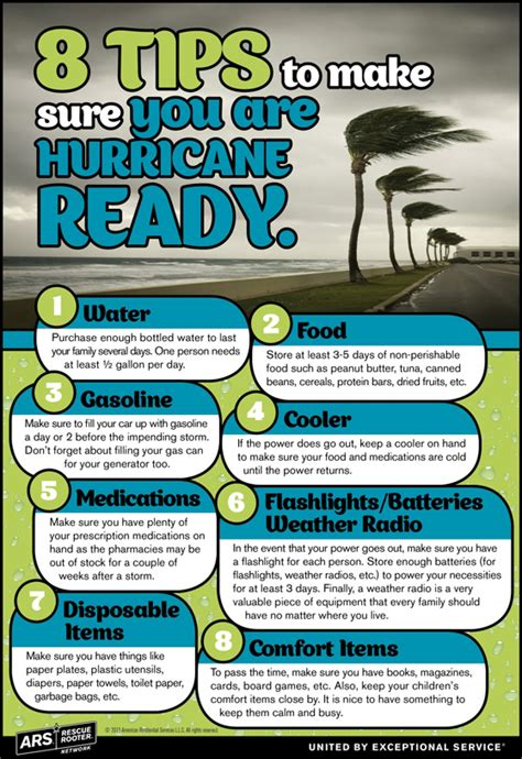 8 Tips To Make Sure You're Hurricane Ready Infograph