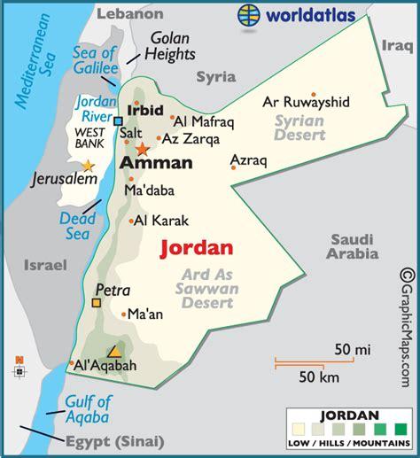 jordan large color map